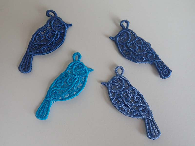 Lace blue bird charm