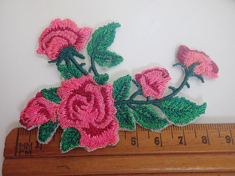 Rose applique
