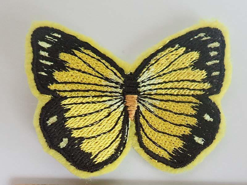 yellow butterfly patch