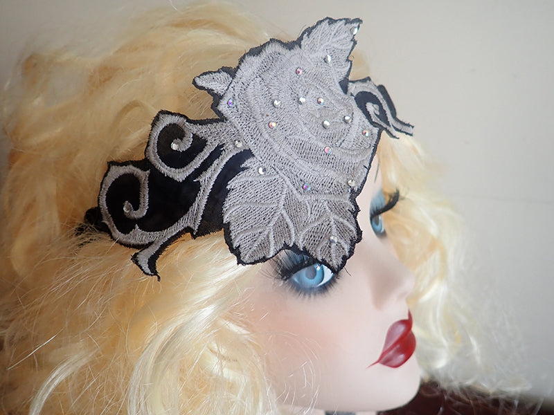 Crystal rose hairband