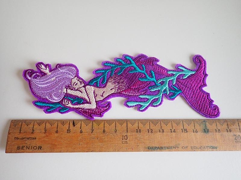 mermaid iron on patches