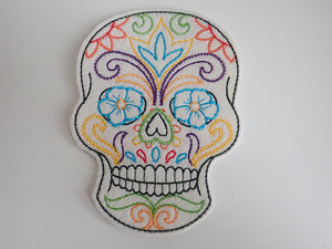 Skull iron on patch