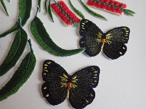 Copper butterfly appliques