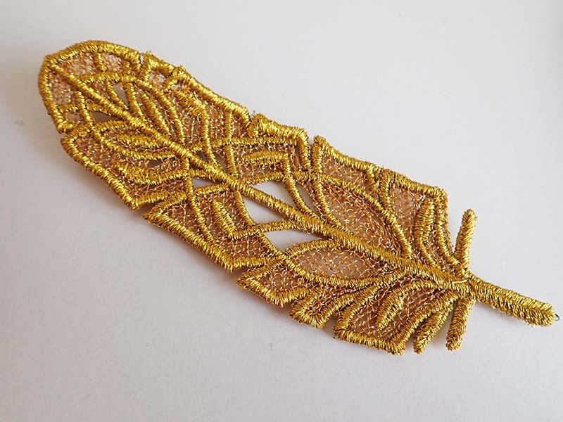 Gold lace feather