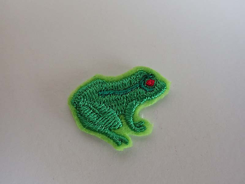 green tree frog iron on patch