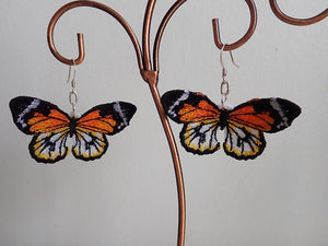 Lacewing butterfly earrings