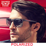 TRIUMPH VISION Polarized Square Sunglasses Men Driving Sun Glasses for Men Gradient UV400 Black Shades Male Gafas Oculos de sol