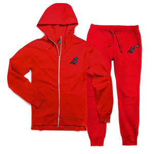 BIRB FLEECE JOGGER RED