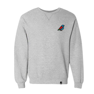 WOMEN'S BIRB EMBROIDERED ICON COLOR SWEATSHIRT