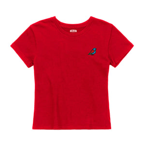 WOMEN'S BIRB EMBROIDERED COLOR ICON T-SHIRT