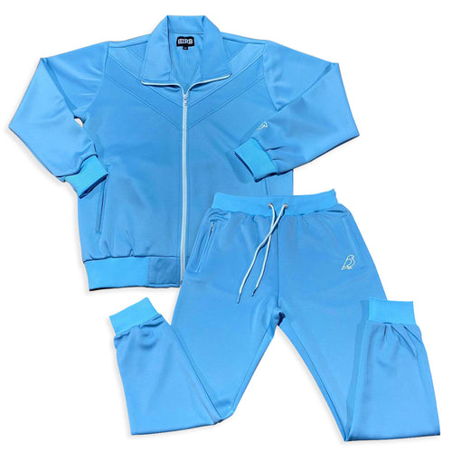 MEN'S SCUBA BLUE KNIT SWEATSUIT