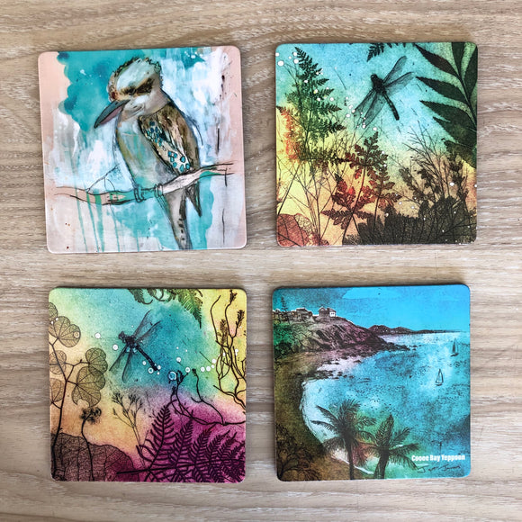 Coasters with Jet James Artwork
