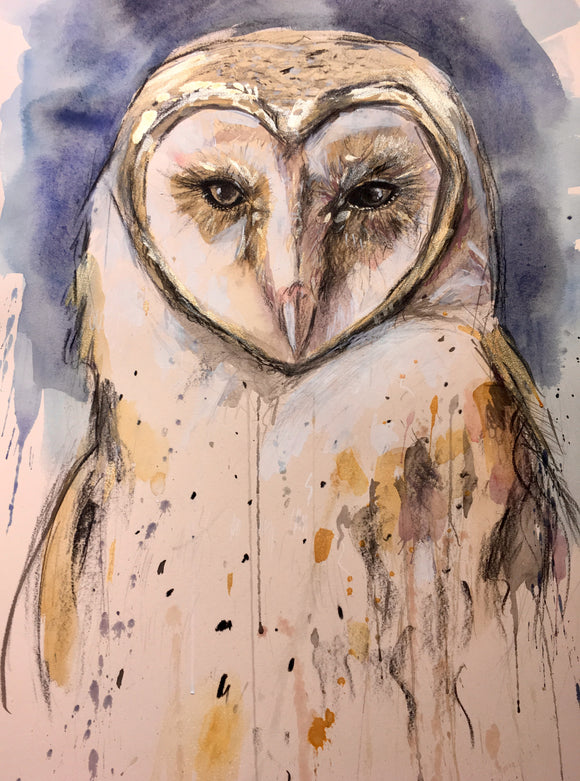 Original Artwork Barn Owl - Jet James Artist
