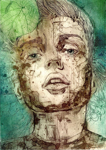 Fleeting Moment Portrait Art Print
