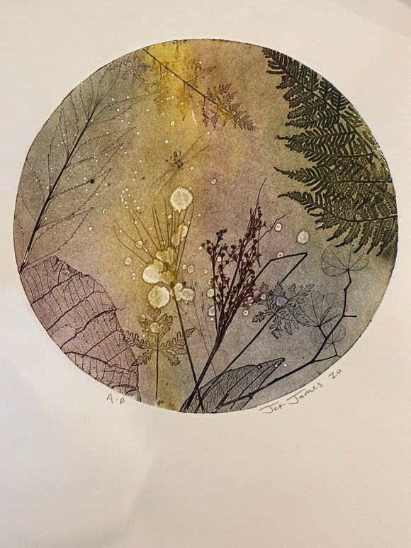 Nature porthole Original Etching