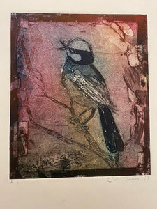 """Song Bird"" Original Collagraph"