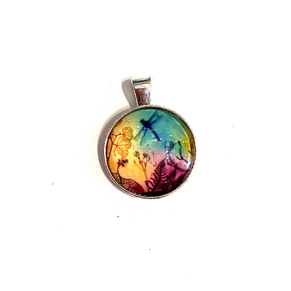 Rainbow Dragonfly Necklace