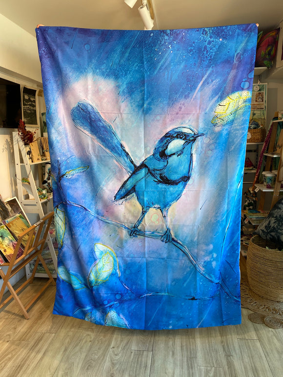 Blue bird single Quilt cover