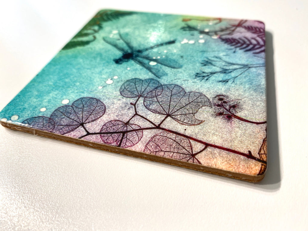 Blue Dragonfly Drink Coaster