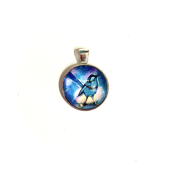Blue Fairy Wren Necklace