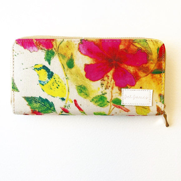 Sunbird and Hibiscus Wallet