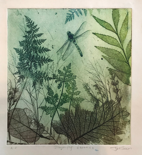 """Dragonfly Style"" Original Etching"