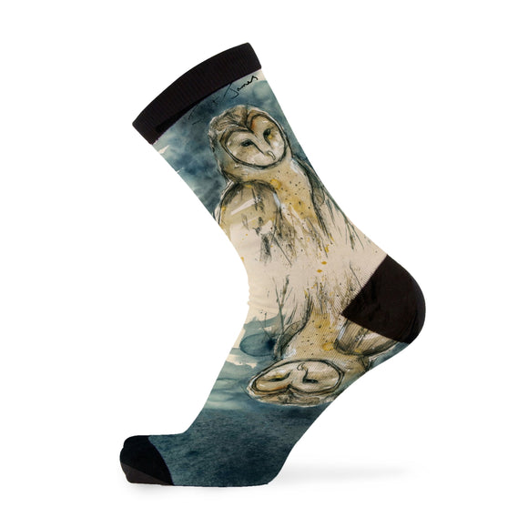 Barn Owl Bamboo Socks