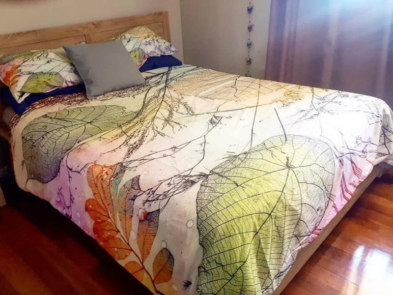 Leaf Pattern Quilt cover