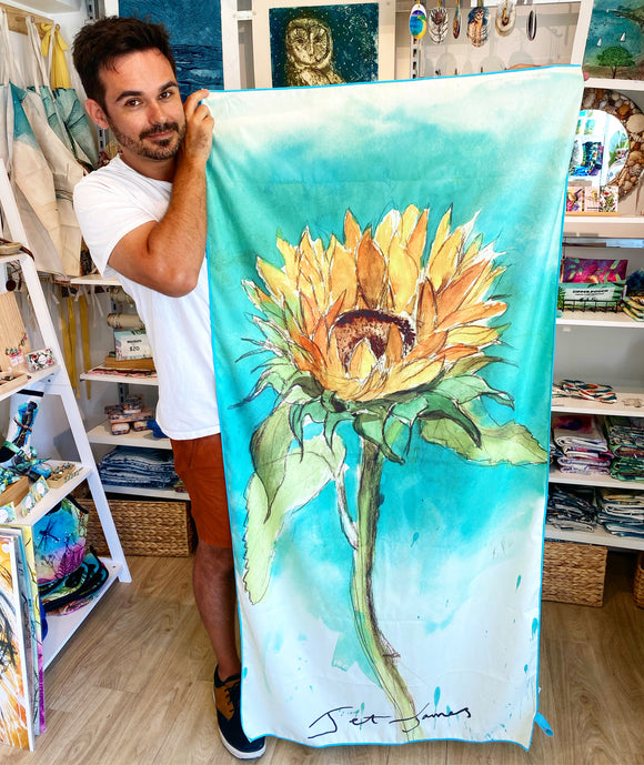 Sunflower Sand Free Beach Towel