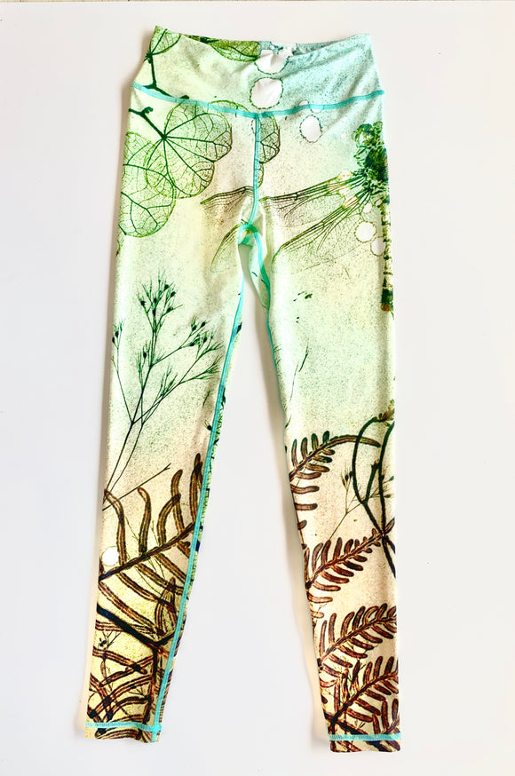 Green Dragonfly Leggings