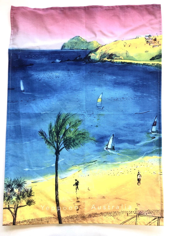 Tea towel - Yeppoon Main Beach
