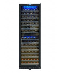 142-Bottle Dual-Zone Wine Cooler w/ Seamless Glass Door, Stainless Trim by Vinotemp, Wine Cooler, Vinotemp - The Luxury Man Cave
