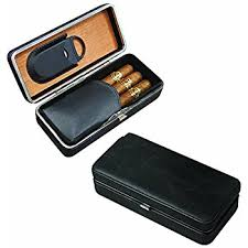 3 Cigar Folding Case With Cutter by Prestige Import Group