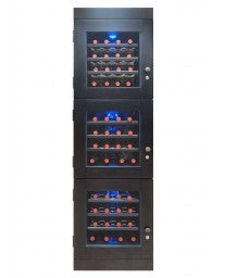 48-Bottle Wine Cellar in Espresso (Left Hinge) by Vinotemp, Wine Cooler, Vinotemp - The Luxury Man Cave
