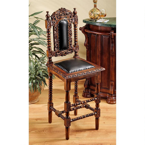 Charles II Gothic Bar Stool by Design Toscano, bar Stools, Design Toscano - The Luxury Man Cave