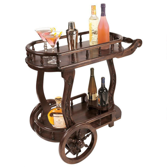 Pemberton Cordial Caddy by Design Toscano, Home Bar, Design Toscano - The Luxury Man Cave