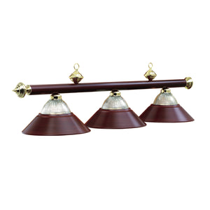 "3 LIGHT-54"" BILLIARD LIGHT-BURGANDY, Billiard Lighting, RAM Gameroom - The Luxury Man Cave"