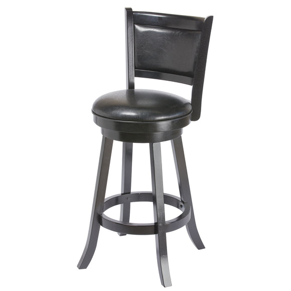BACKED BARSTOOL - BLACK by RAM Gameroom, bar Stools, RAM Gameroom - The Luxury Man Cave