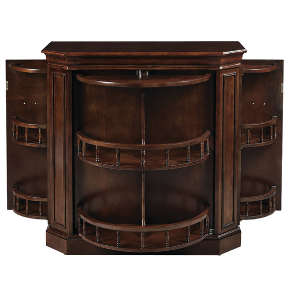 BAR CABINET W/ SPINDLE - CAPPUCCINO by RAM Gameroom, Home Bar, RAM Gameroom - The Luxury Man Cave
