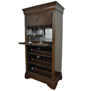 BAR CABINET W/ WINE RACK - Cappuccino by RAM Gameroom, Home Bar, RAM Gameroom - The Luxury Man Cave