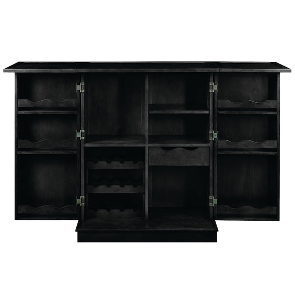 PORTABLE FOLDING BAR CABINET-BLACK by RAM Gameroom, Home Bar, RAM Gameroom - The Luxury Man Cave