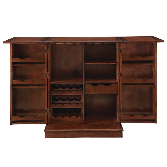 PORTABLE FOLDING BAR CABINET-CHESTNUT by RAM Gameroom, Home Bar, RAM Gameroom - The Luxury Man Cave