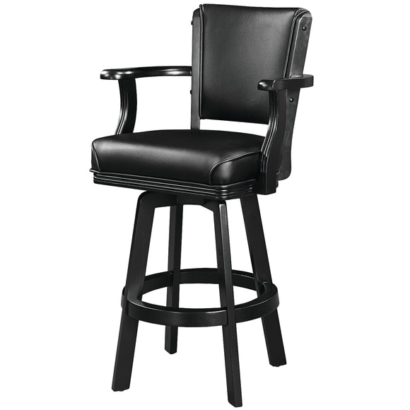 SWIVEL BARSTOOL WITH ARMS-BLACK by RAM Gameroom, bar Stools, RAM Gameroom - The Luxury Man Cave