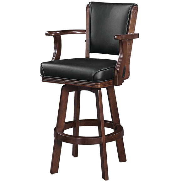 SWIVEL BARSTOOL WITH ARMS-CAPPUCCINO by RAM gameroom, bar Stools, RAM Gameroom - The Luxury Man Cave