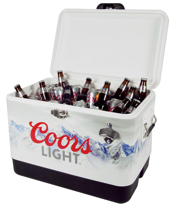 Stainless Steel Ice Chest 54qts with bottle opener by Koolatron, Ice Chest, Koolatron - The Luxury Man Cave