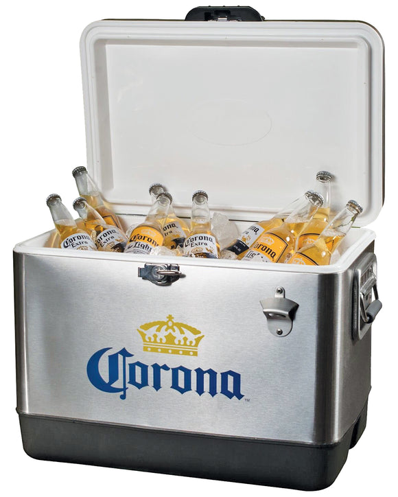 Corona Stainless Steel Ice Chest by Koolatron, Ice Chest, Koolatron - The Luxury Man Cave