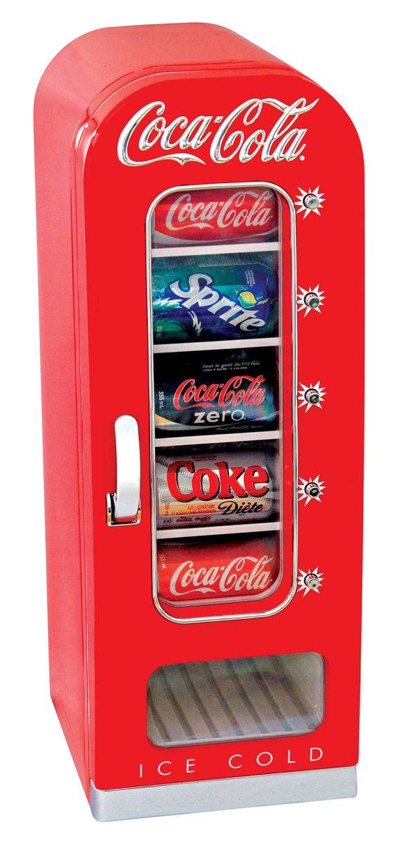 Coca Cola Retro Vending Fridge 10 can by Koolatron, Beverage Refrigerator, Koolatron - The Luxury Man Cave