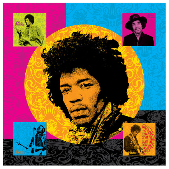 Jimi Hendrix (Multi) Printed Canvas by Holland Bar Stool Company