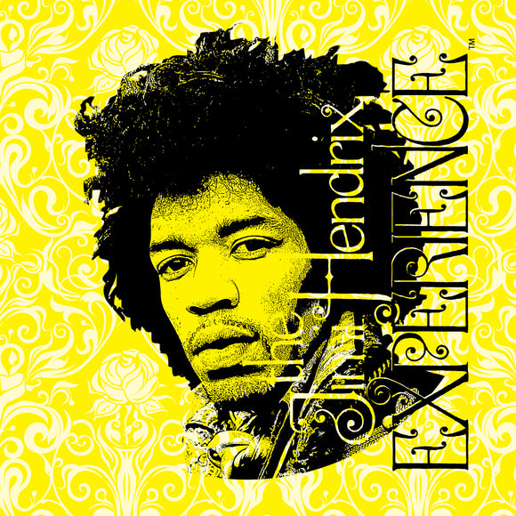 Jimi Hendrix (Jimi on Yellow) Printed Canvas by Holland Bar Stool Company