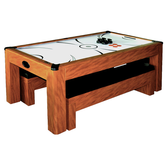 Sherwood 7-ft Air Hockey Table w/Benches by Carmelli, Air Hockey, Carmelli - The Luxury Man Cave